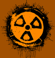 grunge radioactivity warning sign vector image vector image