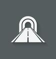 road through tunnel symbol vector image