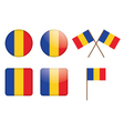 badges with flag of Romania vector image vector image