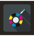Color picker icon flat style vector image