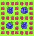 Frame made of raspberries and blackberries vector image