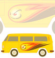 Groovy camper vector image