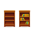 Library bookcase education and knowledge vector image