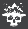 nature skull vector image