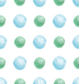 simple bright seamless pattern of green and blue d vector image