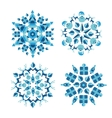 Snowflakes set constructed from Christmas element vector image