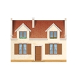 village house facade vector image
