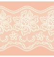 Old lace seamless pattern with ornamental flowers vector image vector image