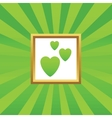 Love picture icon vector image vector image