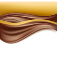 chocolate creamy golden background vector image