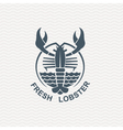 icon with lobster vector image vector image