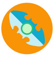 blue oval spinner a flat style vector image