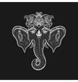 Hand drawn Elephant Head Indian god Lord hindu vector image