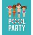 kids cartoon and float icon Swimming and pool vector image