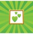 Love picture icon vector image