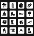 winter icons set squares vector image