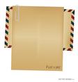 Vintage envelope blank paper vector image vector image