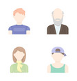 boy in a cap redheaded teenager grandfather with vector image