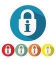 information security web icon flat design vector image