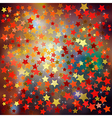 abstract christmas brown background with red stars vector image