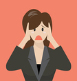 Business woman covering her ears vector image