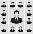 business man icons set vector image