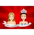 Miss universe 2015 contest Wrong winner vector image