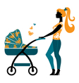 Silhouette of beautiful mother vector image