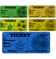 Soccer tickets vector image