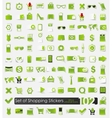 Set of shopping stickers vector image vector image
