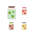 Set of paper stickers on a white background canned vector image
