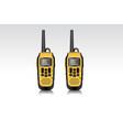 realistic walkie talkie waterproof devices vector image