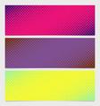 halftone square pattern horizontal banner set vector image vector image