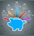 money pig bank piggy icon flat coin save vector image