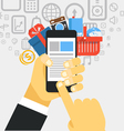 Mobile commerce concept Design elements vector image vector image