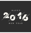Happy New Year 2016 Abstract Card Text vector image