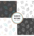Crystals - seamless hand drawn patterns collection vector image