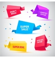 set of colorful sale banners bubbles 3d vector image
