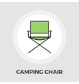 Camping chair Flat Icon vector image