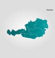 austria - map vector image