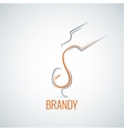 brandy glass bottle splash background vector image