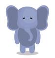 cartoon elephant animal plush stuffed design vector image