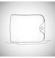 Closed wallet hand drawn sketch style on white vector image