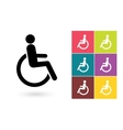 Disabled icon or disabled handicap symbol vector image