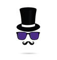 face with mustache and sunglasses vector image