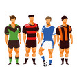 group of football players vector image