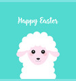 happy easter with sheep vector image