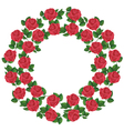 Ornament of red roses element of design vector image