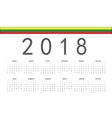 Lithuanian 2018 year calendar vector image
