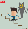 Business man running on the stair - - EPS10 vector image vector image